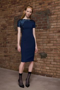 Blue sequins. Talbot Runhof   Pre-Fall 2014 Collection   Style.com