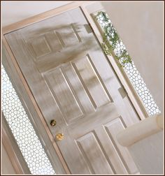 Cozumel Etched Glass Design is great for sidelight windows.