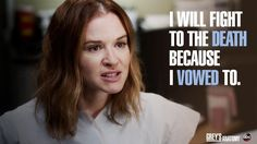 """""""I will fight to the death because I vowed to."""" April Kepner, Grey's Anatomy quotes"""