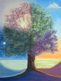 """Saatchi Art Artist Stanza Widen; Painting, """"A Day in the Tree of Life"""" #art"""