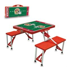 San Francisco 49ers Red Portable Picnic Table at www.SportsFansPlus.com