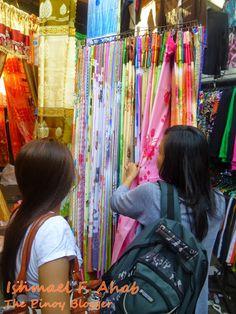 Buying curtains at Ylaya Street, Divisoria