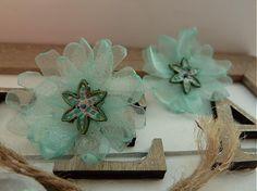 Mint flowers by Martinuska - SAShE.sk - Handmade Náušnice