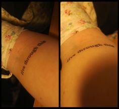 I don't usually like words as tattoos but I have always loved these Hole lyrics