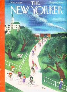 The New Yorker cover - May 28, 1938 - Bicycles