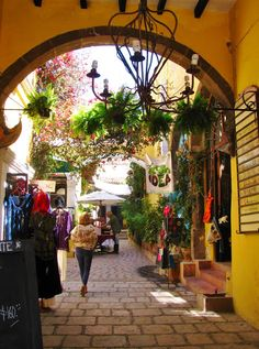 Even the shopping is colorful in San Miguel de Allende Mexico