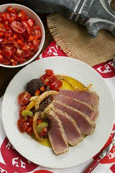 Tuna Confit | Ahi tuna recipe | That Skinny Chick Can Bake