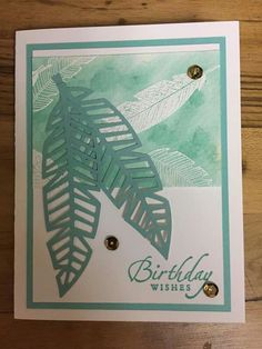 birthday gift ideas for him Feather Cards, Stampin Up Paper Pumpkin, Pumpkin Cards, Stamping Up Cards, Masculine Cards, Craft Kits, Homemade Cards, Birthday Cards, Happy Birthday