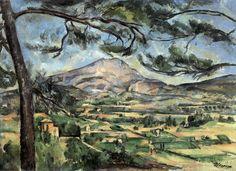 Mont Sainte-Victoire (c. 1887, oil on canvas, 67 x 92 cm) / by Paul Cézanne
