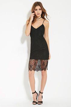 Eyelash Lace Cami Dress