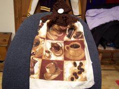 Love my Coffee crocheted dishtowel.