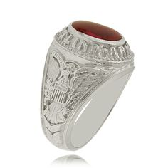 This army ring looks a bit like a college/school ring, but it's not going to make your wallet go up in flames!