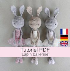 Lion Crochet, Crochet Amigurumi, Crochet Bunny, Crochet Animals, Crochet Top, Patron Crochet, Free Pattern, Etsy, Rabbit