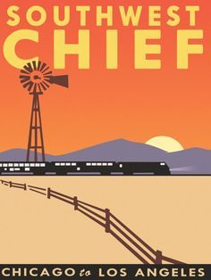 Empire Builder Chicago to Seattle Train Railroad Travel Advertisement Poster Train Posters, Railway Posters, Voyage Usa, Train Art, Travel Illustration, Union Station, Go Camping, Camping Ideas, Advertising Poster