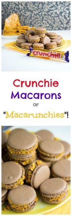 crunchie macarons                                                                                                                                                                                 More
