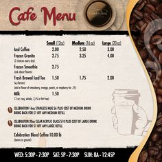 Cafe Menu (right panel)