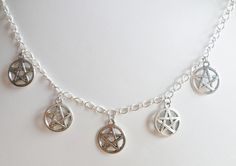 Pentagram Charm Necklace www.elsiegrace.bigcartel.com Necklaces, Bracelets, Charmed, Silver, Jewelry, Products, Jewlery, Money, Bijoux
