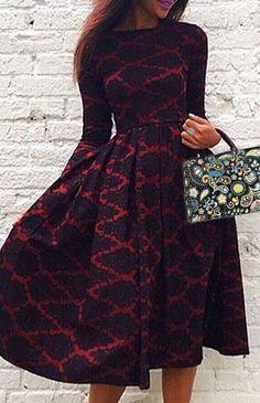 Vintage High Waist Dress ==