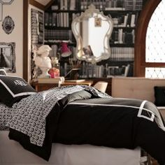 Dorm Room Ideas For Girls | PBteen | Black and white themes #shopstudioc