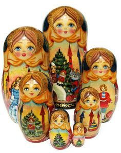 "Nutcracker Nesting Dolls (7-piece set) 8""H"