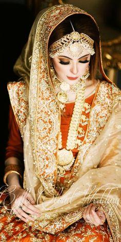 Pakistani Bridal Makeup, Pakistani Wedding Outfits, Indian Bridal Fashion, Princess Wedding Dresses, Best Wedding Dresses, Wedding Wear, Dream Wedding, Bridal Makeup Looks, Bridal Beauty