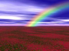 Rainbow, Colors, Landscape, Sky, Clouds