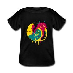 Fossil snail as a graffitiA colorful fantasy snailBaby