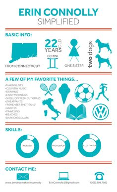 Self Promotional Infographic