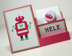 Robot - Party - Roboter - Geburtstag - Birthday - Place card - Tischkarte