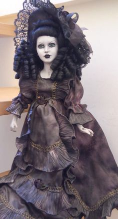 Stunning creepy doll porcelain OOAK Bastet2329 #BASTET2329
