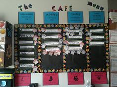 Black and white cafe board