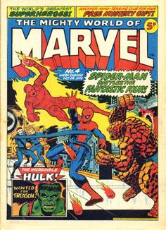 Mighty World of Marvel #4, Jim Starlin cover. Jim Starlin cover. #MightyWorldOfMarvel #JimStarlin