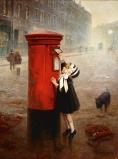 catonhottinroof:    Fernand Le Quesne  The Pillar Box, A Letter to Daddy