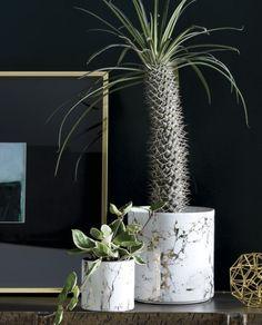 palazzo small marbleized planter