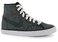 Nike High Top Trainers Boys Womens Primo Court Mid Canvas UK Size 3 EU 35.5 NEW