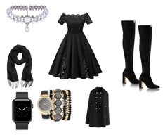 """Black party"" by hudsongenesis on Polyvore featuring Chicwish, WithChic and Jessica Carlyle"