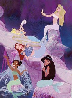 Vintage Disney Princess, Disney Princess Fashion, Disney Princess Drawings, Disney Princess Pictures, Disney Pictures, Disney Drawings, Mermaid Disney, Mermaid Art, Mermaid Lagoon