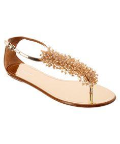 adaad01b357a4 AQUAZZURA Aquazzura Monaco Leather Flat Sandal .  aquazzura  shoes  sandals
