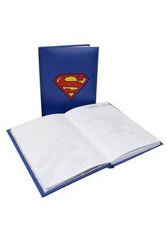 Caderno SUPERMAN com luz