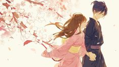 endless spring  credit of the picture goes to the artist  牙 - pixiv member id: 5155908 illustration id: 56572221  anime: noragami couple: yato/yaboku x hiyori iki  #anime #animegirl #animeguy #animecouple #noragami #ノラガミ #yato #yaboku #hiyoriiki #ikihiyori #yatori