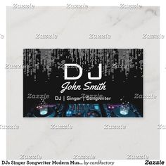 Shop DJs Singer Songwriter Modern Music Event Business Card created by cardfactory.