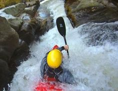 Whitewater kayaking. Steve Fisher drops 100+ feet with Jackass celebrity Bam Margera.