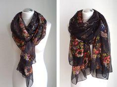 Schals - Schaltuch, Seide, schwarz - ein Designerstück von tiana-S bei DaWanda