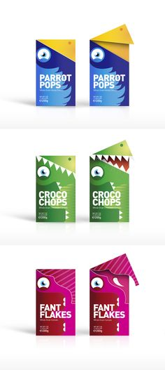 Whole Grain Cereals Concept - opens up like an animals mouth