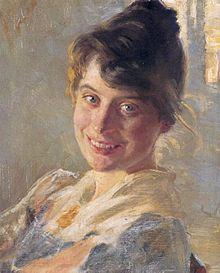 P. S. Krøyer (Danish. 1851-1909) : Marie Krøyer, 1890.