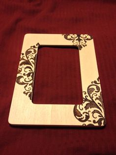 Wood Burned Victorian Style Picture Frame by MaimedWolfCommission, $45.00