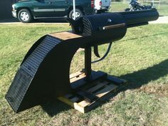 This BBQ grill is locked & loaded.