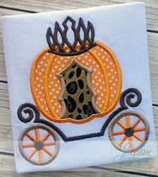 Pumpkin Carriage Applique - 4 Sizes! | What's New | Machine Embroidery Designs | SWAKembroidery.com Creative Appliques