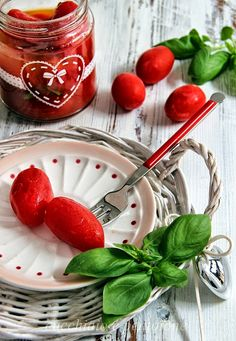 conserva di pomodori datterini pelati I Foods, Preserves, Cherry, Presto, Homemade, Fruit, Cooking, Chow Chow, Fresh Fruit