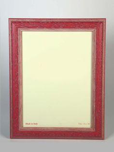 #portafoto in legno con cornice colore #rosso. Artigianato Italiano.
